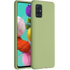 Accezz Liquid Silikoncase Grün für das Samsung Galaxy A51
