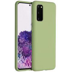 Accezz Liquid Silikoncase Grün für das Samsung Galaxy S20