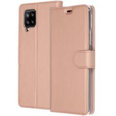 Accezz Wallet TPU Booklet für das Samsung Galaxy A42 - Roségold