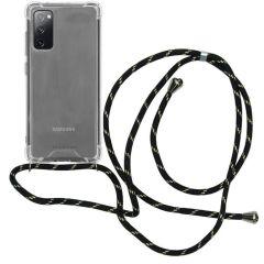 iMoshion Backcover mit Band Samsung Galaxy S20 FE - Schwarz / Gold