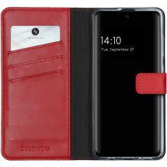 Selencia Echtleder Booktype Hülle Rot für das Samsung Galaxy A51