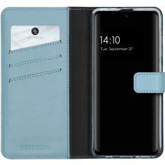 Selencia Echtleder Booktype Hülle Hellblau für das Samsung Galaxy A51