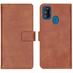 iMoshion Luxuriöse Buchtyp-Hülle Braun für Samsung Galaxy M30s / M21