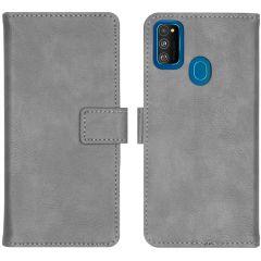 iMoshion Luxuriöse Buchtyp-Hülle Grau für Samsung Galaxy M30s / M21