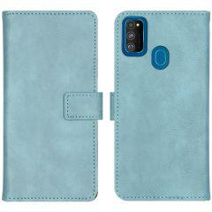 iMoshion Luxuriöse Buchtyp-Hülle Hellblau Samsung Galaxy M30s / M21