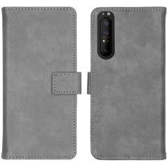iMoshion Luxuriöse Buchtyp-Hülle Grau Sony Xperia 1 II