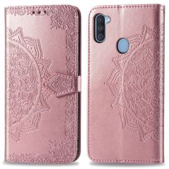 iMoshion Mandala Booktype-Hülle Samsung Galaxy M11 / A11 - Roségold