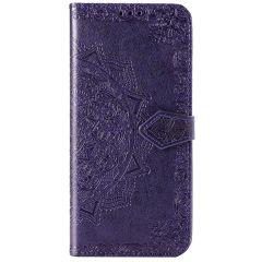 Mandala Booktype-Hülle Violett für das Sony Xperia 5