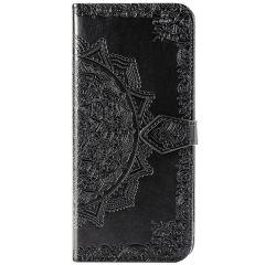 Mandala Booktype-Hülle Schwarz für das Sony Xperia 5