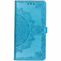 Mandala Booktype-Hülle Blau für Samsung Galaxy J7 (2016)