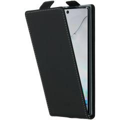 Accezz Flip Case Schwarz für das Samsung Galaxy Note 10