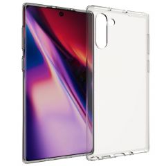 Accezz TPU Clear Cover Transparent für Samsung Galaxy Note 10