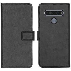 iMoshion Luxuriöse Buchtyp-Hülle LG K61  - Schwarz