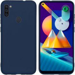 iMoshion Color TPU Hülle für Samsung Galaxy M11 / A11 - Dunkelblau