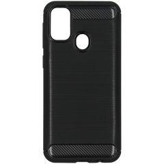 Brushed TPU Case Schwarz für das Samsung Galaxy M30s / M21