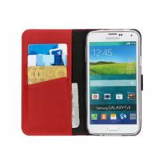 Selencia Echtleder Booktype Hülle Rot für Galaxy S5 (Plus) / Neo