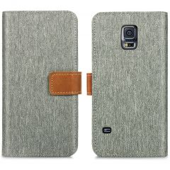 iMoshion Luxuriöse Canvas-Klapphülle Samsung Galaxy S5 (Plus) / Neo