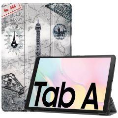 iMoshion Design Trifold Bookcase Galaxy Tab A7 - Paris