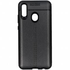 Leder Silikon-Case Schwarz für das Huawei P Smart (2019)