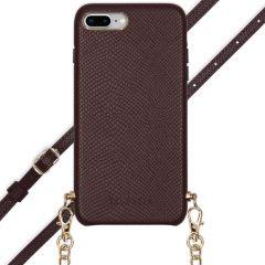 Selencia Hülle aus Schlangenleder mit Band iPhone 8 Plus / 7 Plus