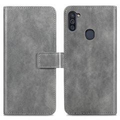 iMoshion Luxuriöse Buchtyp-Hülle Samsung Galaxy M11 / A11 - Grau