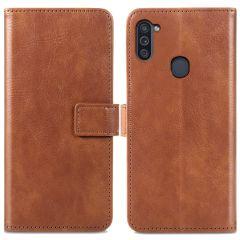 iMoshion Luxuriöse Buchtyp-Hülle Samsung Galaxy M11 / A11 - Braun