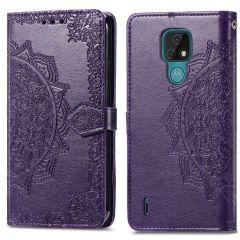 iMoshion Mandala Booktype-Hülle Motorola Moto E7 - Violet