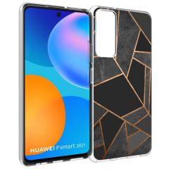 iMoshion Design Hülle Huawei P Smart (2021) - Grafik-Kupfer - Schwarz