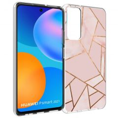 iMoshion Design Hülle Huawei P Smart (2021) - Grafik-Kupfer - Rosa
