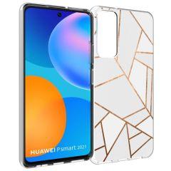 iMoshion Design Hülle Huawei P Smart (2021) - Grafik-Kupfer - Weiß