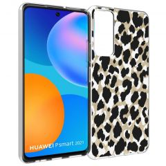 iMoshion Design Hülle Huawei P Smart (2021) - Leopard - Gold /Schwarz