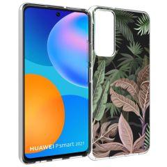 iMoshion Design Hülle Huawei P Smart (2021) - Dschungel - Grün / Rosa