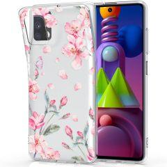iMoshion Design Hülle Samsung Galaxy M51 - Blume - Rosa