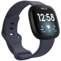 iMoshion Silikonband für das Fitbit Sense / Versa 3 - Dunkelblau