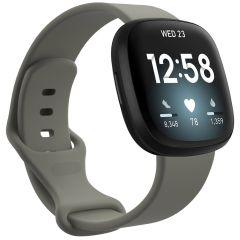 iMoshion Silikonband für das Fitbit Sense / Versa 3 - Dunkelgrau