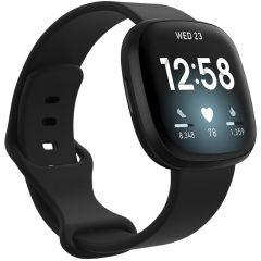iMoshion Silikonband für das Fitbit Sense / Versa 3 - Schwarz