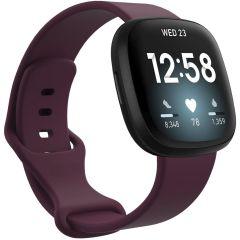 iMoshion Silikonband für das Fitbit Sense / Versa 3 - Dunkelrot