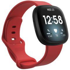 iMoshion Silikonband für das Fitbit Sense / Versa 3 - Rot