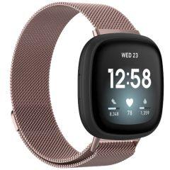 iMoshion Milanese Watch Armband Fitbit Sense / Versa 3 - Rosa