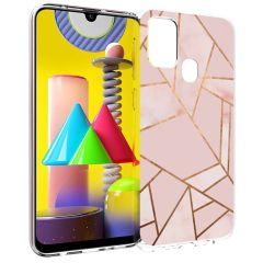 iMoshion Design Hülle Galaxy M31 - Grafik-Kupfer - Rosa / Gold