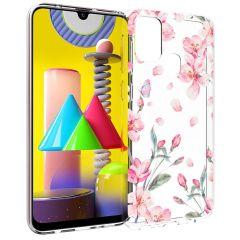iMoshion Design Hülle Samsung Galaxy M31 - Blume - Rosa