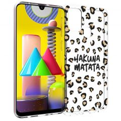 iMoshion Design Hülle Samsung Galaxy M31 - Leopard - Braun / Schwarz