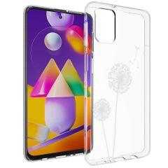 iMoshion Design Hülle Samsung Galaxy M31s - Pusteblume - Weiß