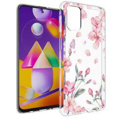 iMoshion Design Hülle Samsung Galaxy M31s - Blume - Rosa