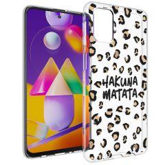 iMoshion Design Hülle Samsung Galaxy M31s - Leopard - Braun / Schwarz