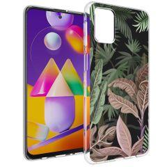 iMoshion Design Hülle Samsung Galaxy M31s - Dschungel - Grün / Rosa