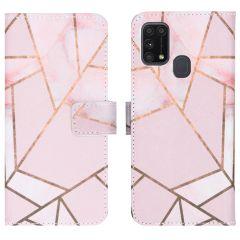 iMoshion Design TPU Booktype Hülle Samsung Galaxy M31 - Pink Graphic