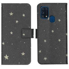iMoshion Design TPU Booktype Hülle Samsung Galaxy M31- Stars Gold
