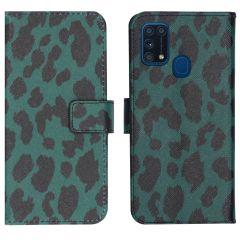 iMoshion Design TPU Booktype Hülle Samsung Galaxy M31- Green Leopard