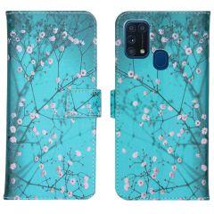 iMoshion Design TPU Booktype Hülle Samsung Galaxy M31- Blossom